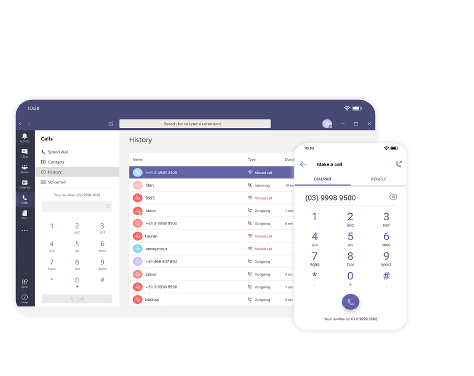 Microsoft Teams Calling collaboration features